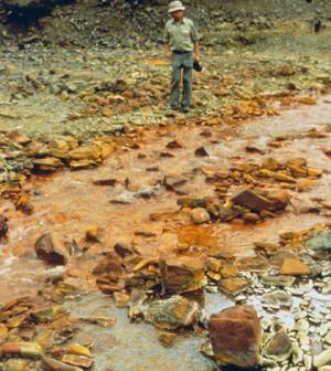 Iron contamination in Idaho's Blackbird Creek (Credit: NOAA)