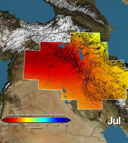 Satellite groundwater (Credit: NASA/UC Irvine/NCAR)