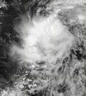 Tropical Storm Gaston over the open Atlantic (Credit: U.S. Navy)
