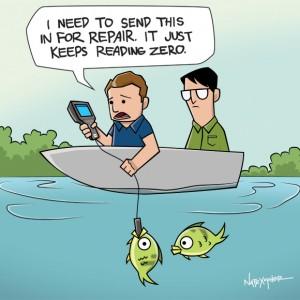 keeps reading zero