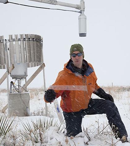 Snow sensors (Credit: UCAR/Carlye Calvin)