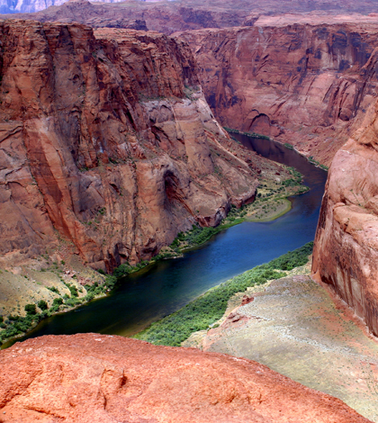 The Colorado River near Page, Arizona (Credit: Adrille, via Wikimedia Commons)