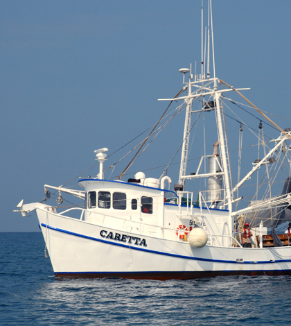 The fishing boat Caretta during certification operations (Credit: NOAA)