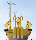 The Wind Sentinel buoy will measure wind conditions on Lake Michigan (Credit: GVSU)