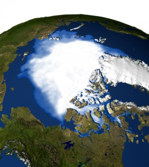 Animation of polar ice concentrations, which could be affected by shifting climate zones (Credit: NASA)
