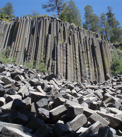 Devils Postpile National Monument in the Sierra Nevada Mountains (Credit: U.S. National Parks Service)