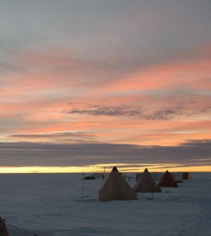 Ice core camp (Credit: Natural Environment Research Council)