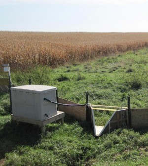 Edge of field monitoring station (Credit: Minnesota Department of Agriculture)