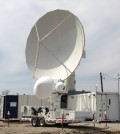 NASA Dual-Frequency Dual-Polarized Doppler Radar (smaller radar with two dishes in front) and the NASA NPOL dual-polarimetric radar (large radar) (Credit: NASA)