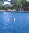 A monitoring buoy deployed in Salem Harbor, Mass. (Credit: Brad Hubney)