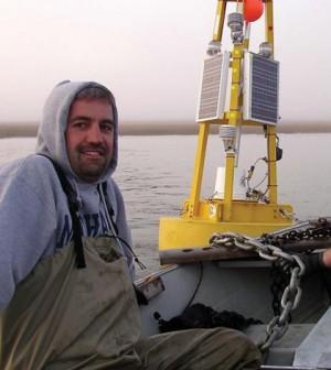 John Lenters in the Arctic (Credit: University of Nebraska-Lincoln)