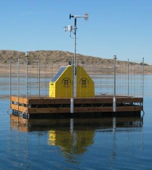 Lake Mead monitoring platform (Credit: USGS)