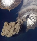 A Mount Cleveland eruption in Alaska in 2006 (Credit: NASA, via Wikimedia Commons)