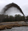 Image: Dredge spoil slurry spray application (Credit: State of Delaware)