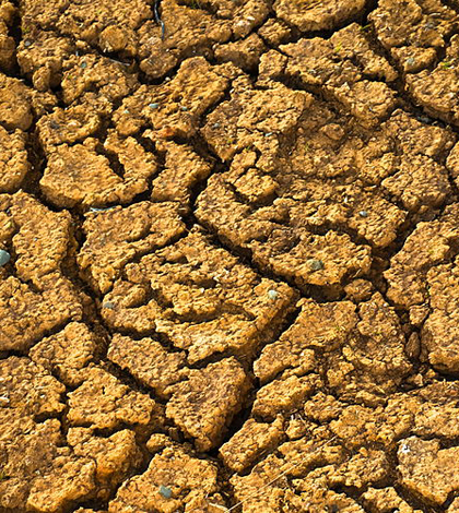 Image: Parched ground (Credit: Axel Kristinsson, Wikimedia Commons)
