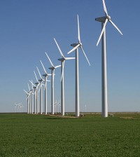 The Brazos Wind Farm near Fluvanna, Texas (Credit: Leaflet, Wikimedia Commons)