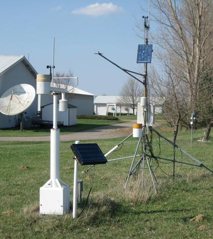 A Michigan State University Enviro Weather Station (Credit: Michigan State University)