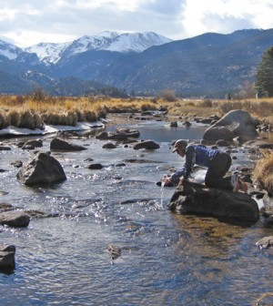 A stream in the Big Thompson River Watershed, a site in the USGS Hydrologic Benchmark Network (Credit: USGS)