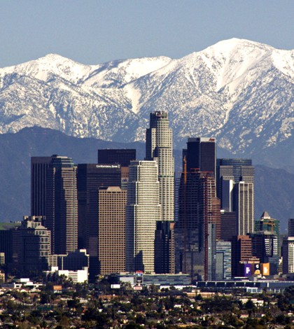 L.A.'s mountains will lose more than a third of their snow. (Credit: UCLA)