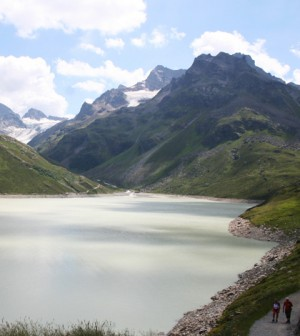 Lake Silvretta in Austria (Credit: Angela Huster, Wikimedia Commons)
