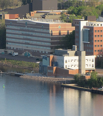 Great Lakes Research Center at Michigan Tech waterfront