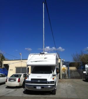 UC Santa Barbara researcher RV outfitted to sample methane on the road (Credit: Ira Leifer/UC Santa Barbara)