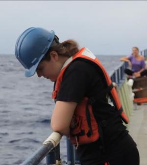 Greta Leber, University of Miami graduate student in oceanography (Credit: University of Miami's Rosenstiel School)