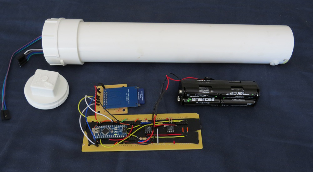 The OpenCTD instrument houses a Arduino micro-controller in a PVC body (Credit:  Andrew Thaler)
