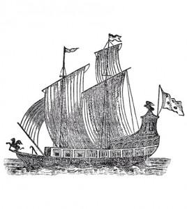 A 1697 woodcut of the Griffon (Credit: Wikimedia Commons)