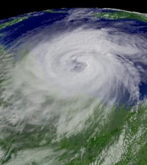 Image: Hurricane Ike descending on Texas in September, 2008 (Credit: NOAA)