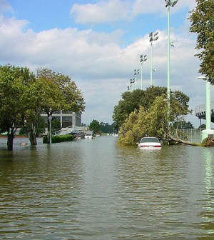 Flooding in Annapolis, Md., after Hurricane Isabel. Sea level rise could make such flooding worse. (Credit: U.S. Navy)