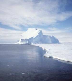 The Riiser-Larsen Ice Shelf in Antarctica (Credit: NASA)