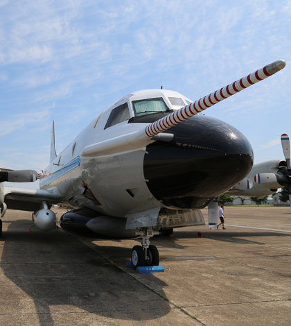 Airborne measurements for the Southern Atmosphere Study are collect by NOAA's WP-3D aircraft (Credit: David Oonk/CIRES)
