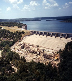 The Tenkiller Dam, the site of the new flow system and oxygen booster (Credit: U.S. Army Corps of Engineers)