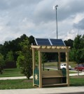 The Village Green Project park bench is equipped with air quality and climate sensors (Credit: Gayle Hagler)