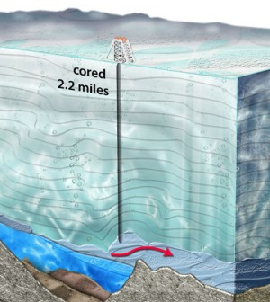 A cross-section of Lake Vostok (Credit: Nicolle Rager-Fuller/National Science Foundation)