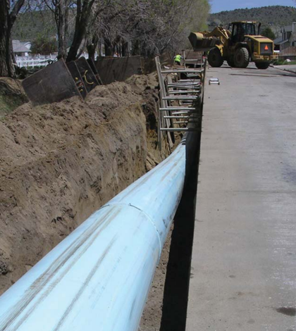 Water main upgrade in Carson City, Nev. (Credit: Michelle Stamates, Nevada Division of Environmental Protection)