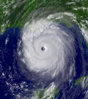 Image: Satellite image of Hurricane Katrina (Credit: NOAA)