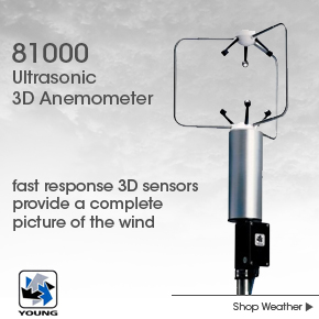 RM Young 81000 Ultrasonic 3D Anemometer