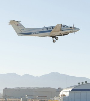 A NASA-operated B200 King Air (Credit: NASA)