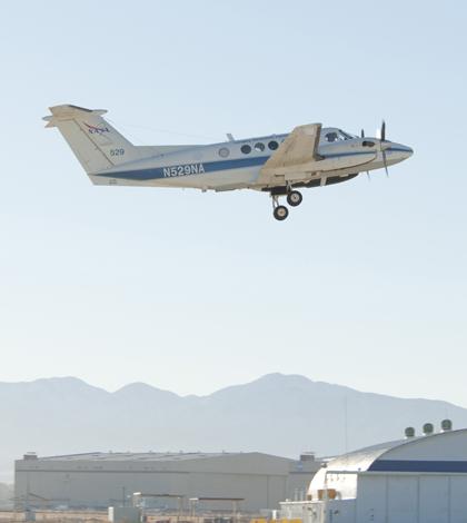A NASA-operated B200 King Air (Credit: NASA)