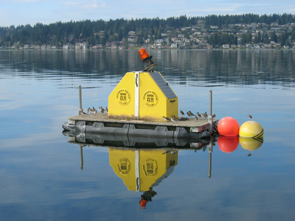 The monitoring platform on Lake Sammamish is takes around an hour to measure a full profile