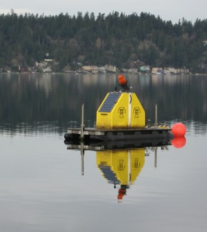 The water quality profiling platforms on lakes Washington and Sammamish in King County