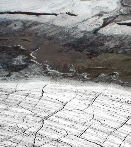 Permafrost in the Arctic (Credit: Brocken Inaglory, Wikimedia Commons)