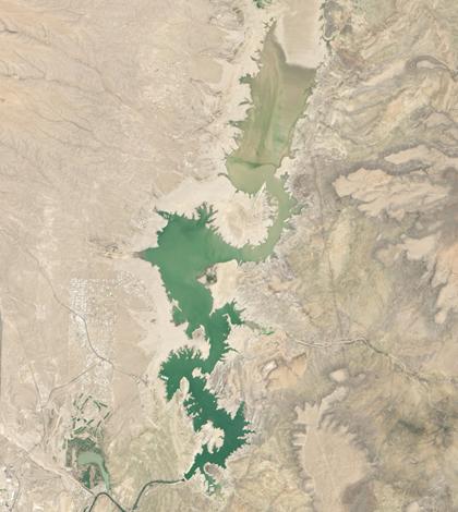 Landsat image of Elephant Butte Reservoir (Credit: USGS)