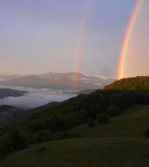 Rainbow captured by a web cam at Great Smoky Mountains National Park (Credit: U.S. National Park Service)