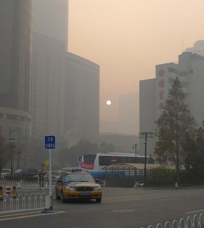 Smog in Beijing in 2011 (Credit: egorgrebnev, via Flickr)