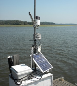 A water quality monitoring station on the Occoquan River (Credit: Christian Jones)