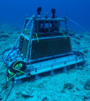 The OceanCube seafloor observatory's main node (Credit: OIST)