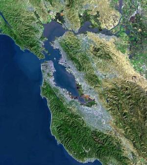 The San Francisco Bay area (Credit: USGS, via Wikimedia Commons)